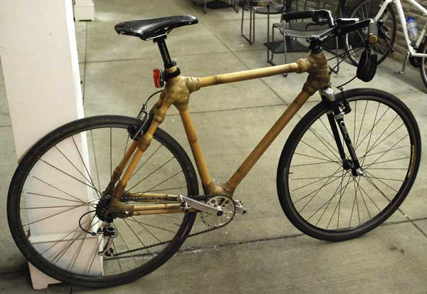 Mark's first bamboo bike