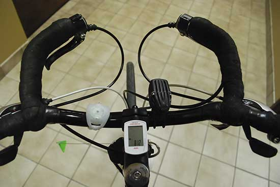 Bike handlebar set-up.